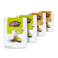 Perrucci Mix Cappuccino 2ks, Latte Macchiato 2ks do dolce gusto